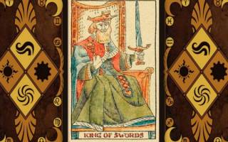Толкование карты Таро Король мечей и ее в сочетании с другими