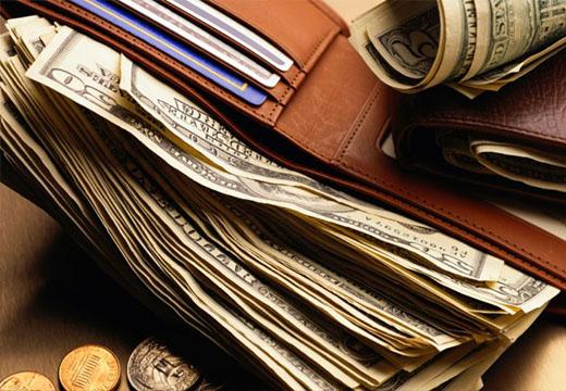 кошелек с денььгами