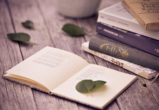 листок в книге