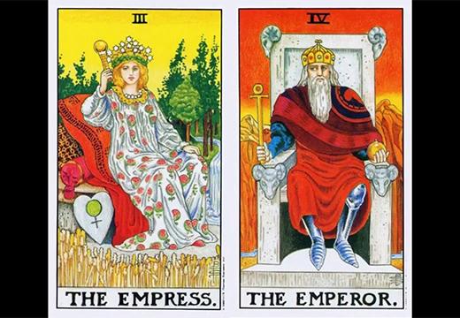карты император и императрица