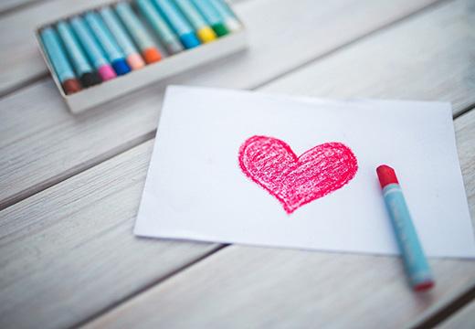 сердечко на бумаге