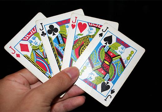 четыре карты валета