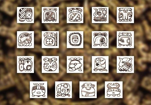 значки майя
