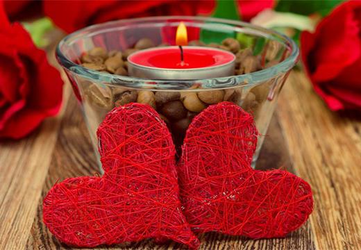 два сердца и свеча