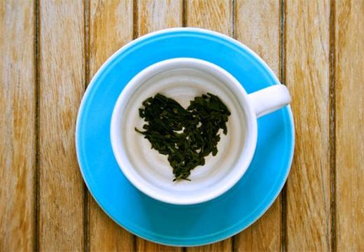 сердечко из чая
