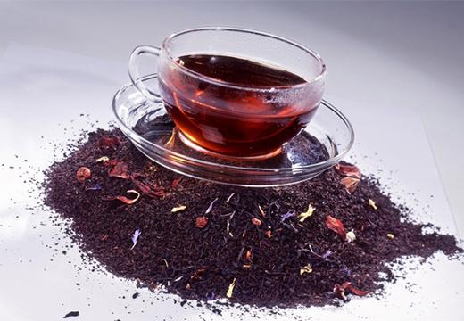 чашка на чайных листках