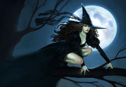 ведьма на дереве