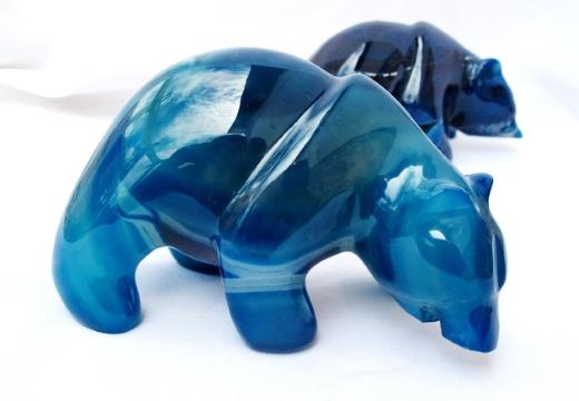 статуэтки из голубого агата