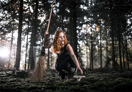ведьма в лесу