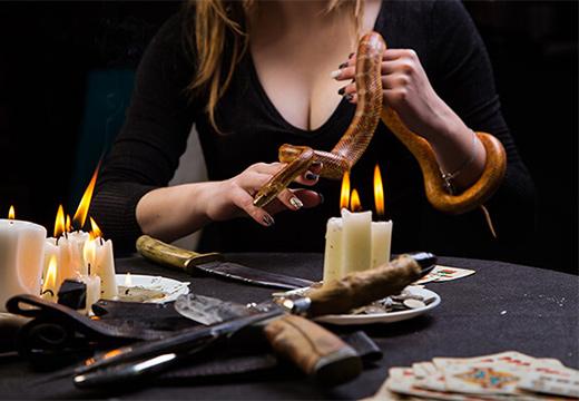 змея и свечи