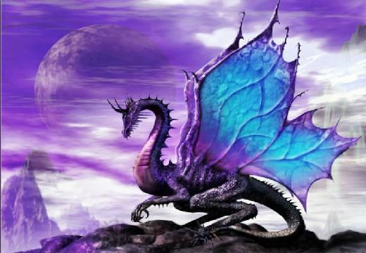 сиреневый дракон