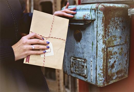 письмо и почтовый ящик