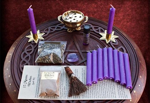 веник и свечи