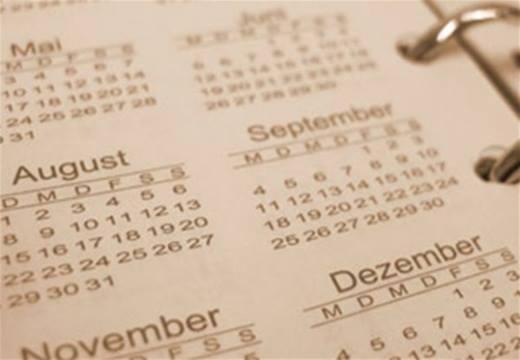 Календарь с датами