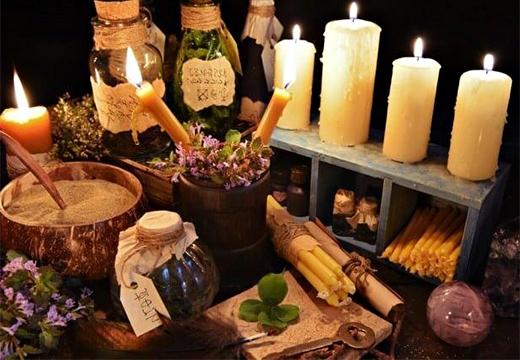 свечи и травы