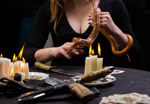 девушка ведьма змея