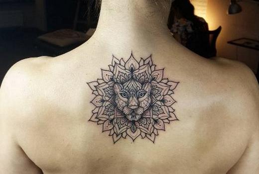 татуировка тигр мандалы