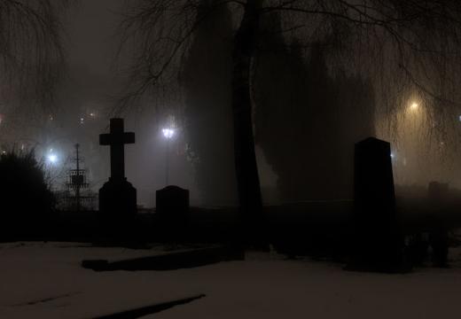 кладбище ночью