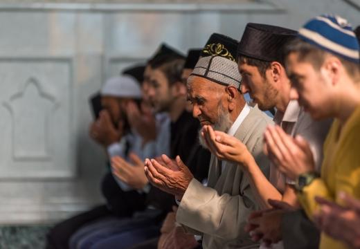 Чтение дуа мусульманами