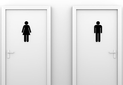 вход в туалет