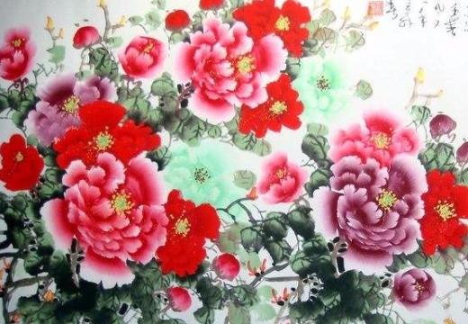 картина маки китайская