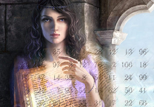 девушка таблица чисел