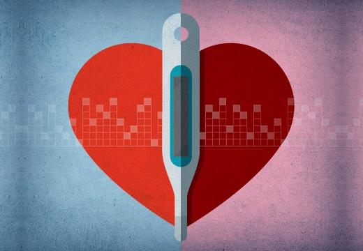сердце и градусник