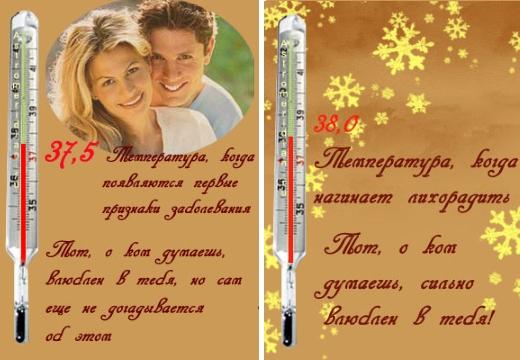 значения в гадании градусник любви