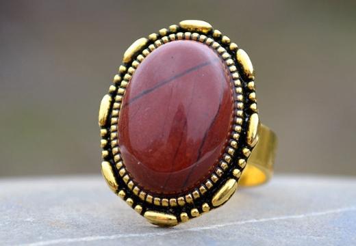 кольцо с яшмой