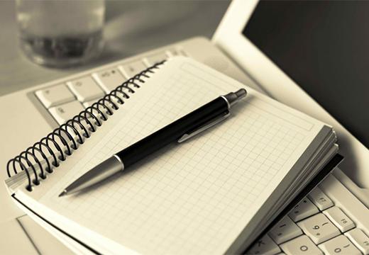 тетрадка и ручка