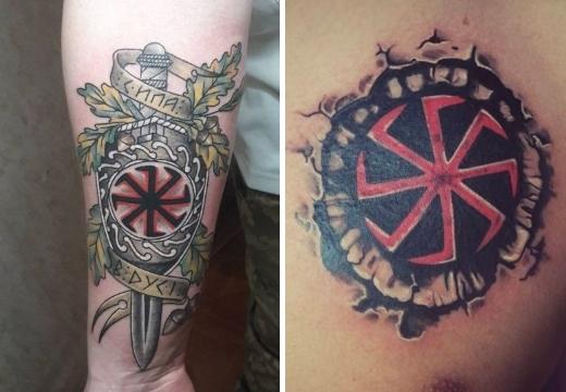 татуировки с символом колядник