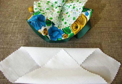 сложить белый платок