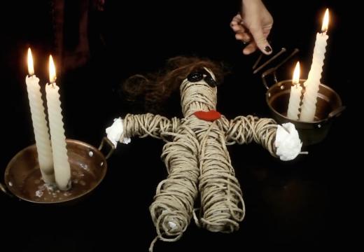 кукла вуду из ниток