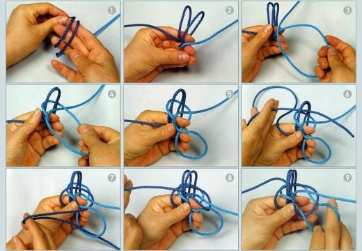 плетение китайского узла удачи