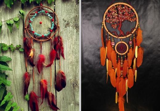 ловцы снов красный оранжевый