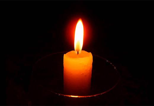 свеча в сосуде