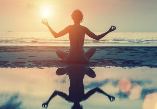 медитация на закате