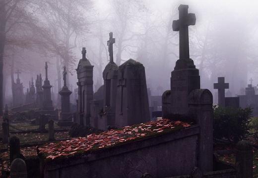 кладбище сумерки