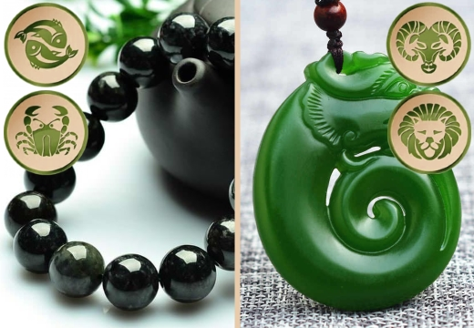черный и зеленый нефрит