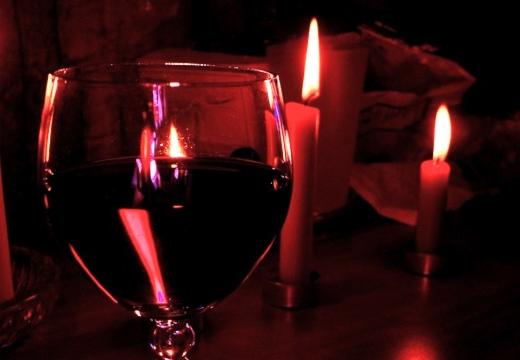 свечи вино