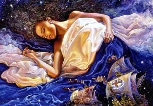 спящая девушка сны