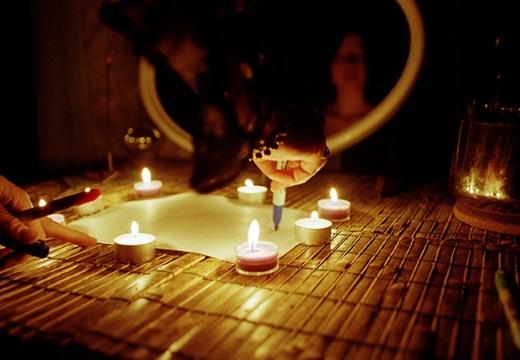свечи чертить на бумаге