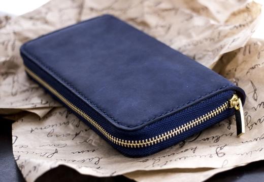 синий кошелек