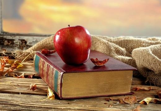 яблоко на книге