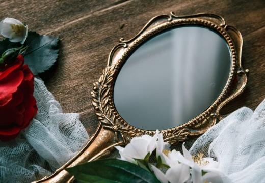 зеркальце роза
