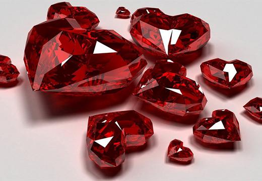 сердца из рубинов