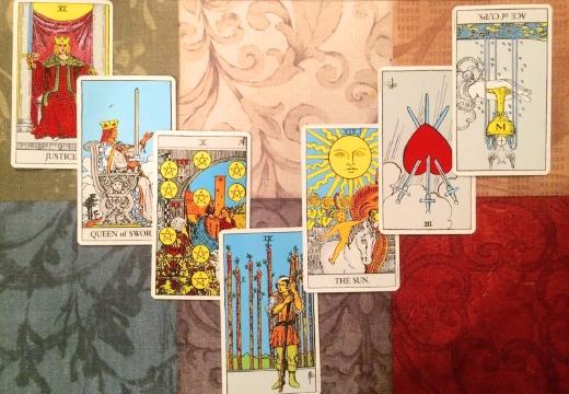 расклад 7 карт таро
