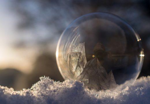 замерший пузырь