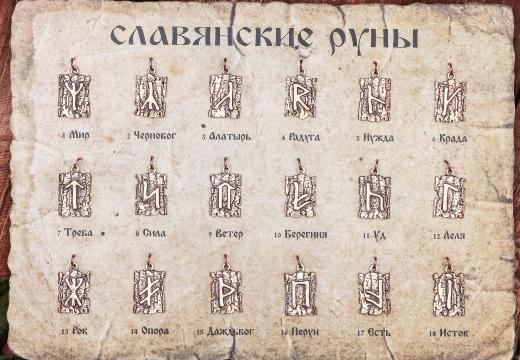 славянские руны символы
