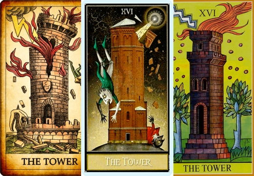 карта башня разные таро